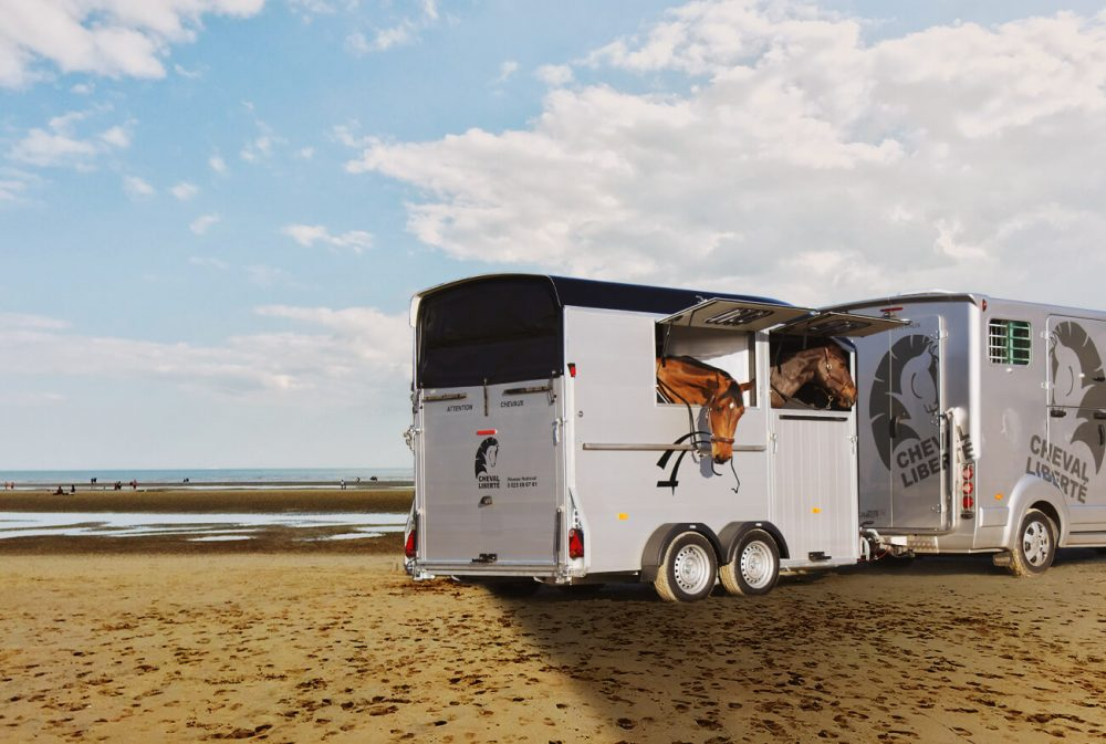Maxi2 – Herringbone Double Horse Trailer